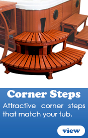 Hot Tub Corner Steps